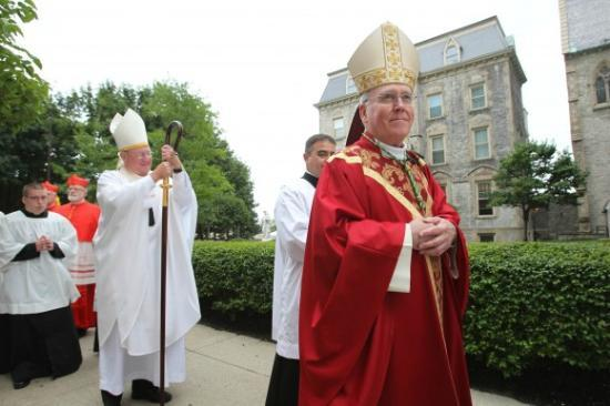 St Joseph's Cathedral: Bishop Malone followed by Cardinal Dolan