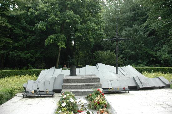 "Szczecin, Central Cemetery - monument to ""those who never got back from the sea"""