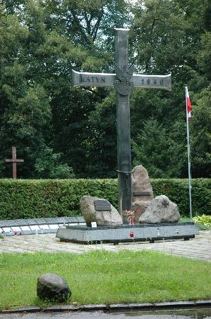 Central Cemetery - Katyń Cross, dedicated to Polish soldiers killed in communist concentration c
