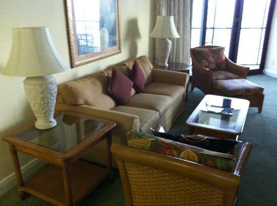 Pointe Estero Beach Resort: Wohnzimmer
