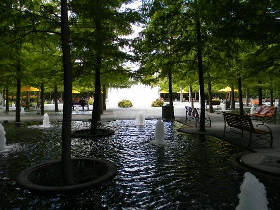 Fountain Place: the beautiful waterfalls and fountains , there is 172 if i remember