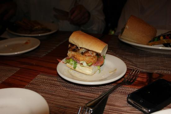 The French Quarters Guest Apartments: Bourbon Street ( Shrimp Po Boy)