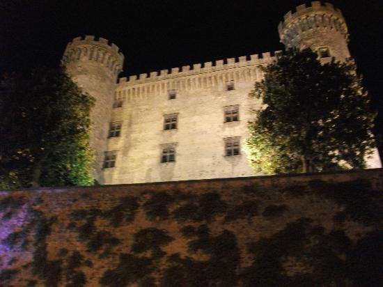 Bracciano castle at night