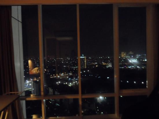 HARRIS Suites FX Sudirman: view of the city at night