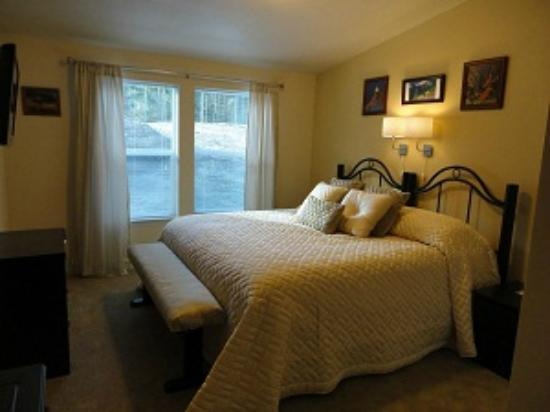 Amber Lights B & B: Gold room with king size bed and flat screenTV