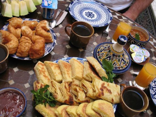 Riad Ahlam: Petit déjeuner