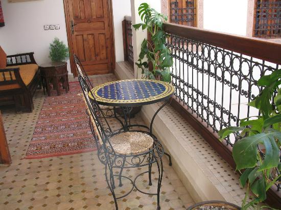 Riad Ahlam: Le balcon de notre chambre