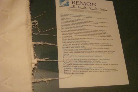 Hotel Bemon Playa: En estas condiciones estan las toallas