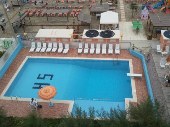 Hotel Villa Saba: vista dalla camera frontemare