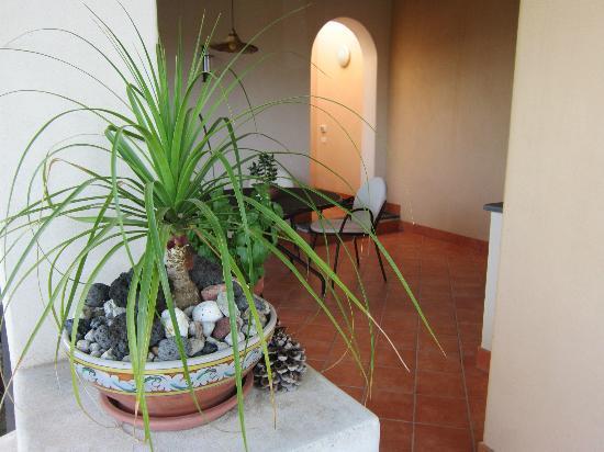 Villa Hermes: Il terrazzo per colazione e cena