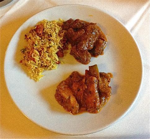 Nepali Rice, Lamb Jalfrezi and Everest Chicken