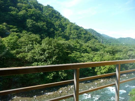 Kozuchi no Yado Tsurukame Daikichi: Morning view through window of traditional room to right