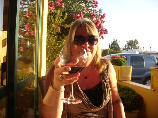 L'Orange Restaurant : enjoying a glass of wine