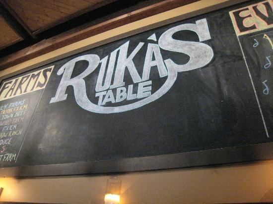 supplier and event board, Ruka's Table