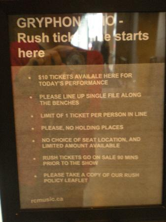 Royal Conservatory of Music: Rush Ticket is $10 only