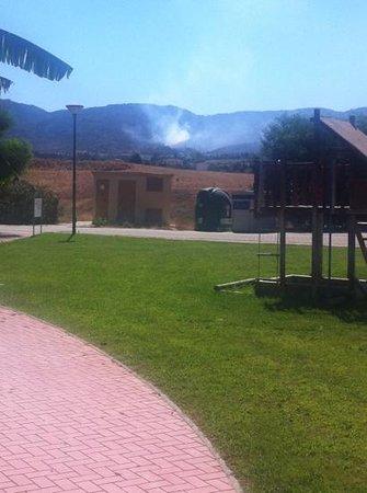 Sol Andalusi Health & Spa Resort: incendie de forêt