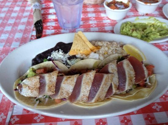 Marix Tex Mex Playa: ahi fish taco platter