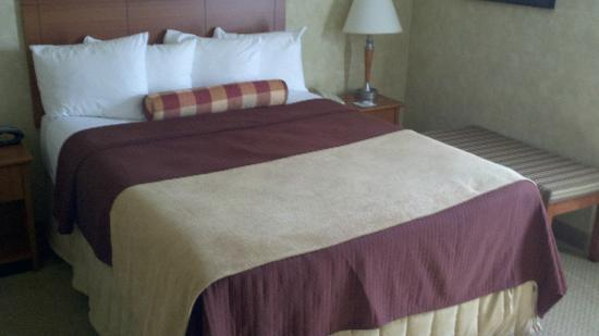 Best Western Plus Rose City Suites: Nice comfy bed.