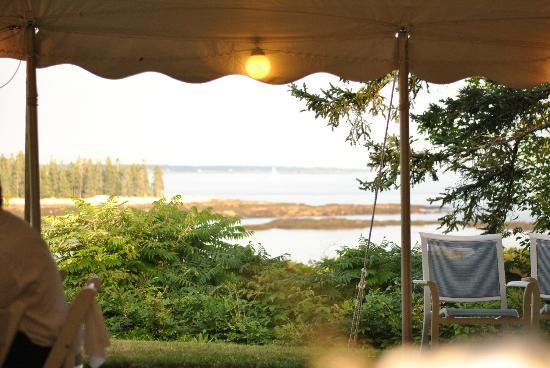 The Mooring Bed and Breakfast: View from wedding tent on lawn