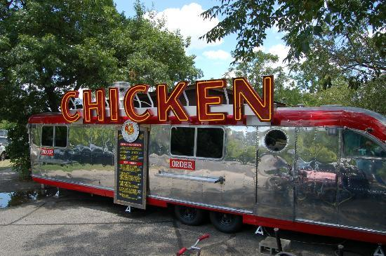 Ms. P's Electric Cock Chicken: Best food trailer Fried Chicken Austin Texas