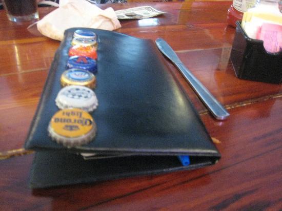 check holder, Flip Side