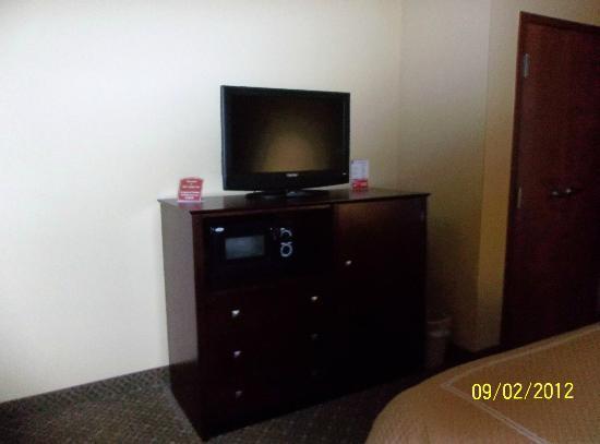 Comfort Suites Gettysburg: Microwave, frig and tv