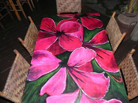 Mango Tango: Dining table with original artwork