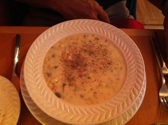 Eden: Corn Chowder (photo was taken after my husband added the pepper)-couldn't tell it wasn't made wi
