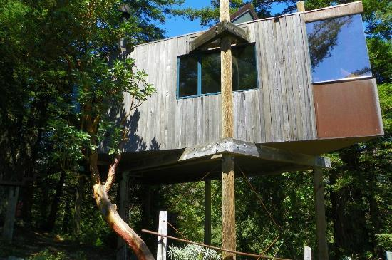 Post Ranch Inn: tree house with view of the ocean