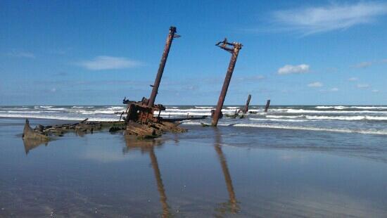 Navio Encalhado na Praia do Cassino