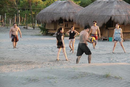 Lingayen, Filipina: beach volleyball