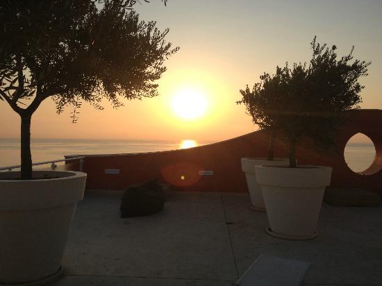 Valentino Resort: Terrazza ultimo piano all'alba