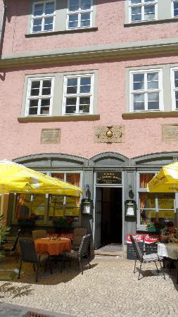 Außenansicht Restaurant zur Goldenen Schelle