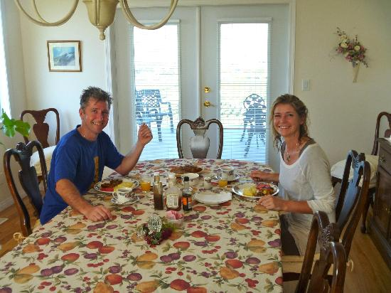 The White Horse Bed and Breakfast: delicious breakfast