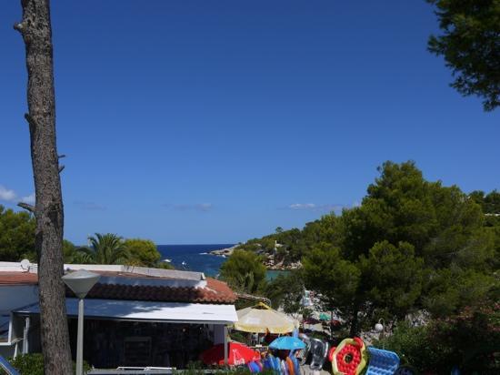 Sandos El Greco Beach Hotel: View of Portinatx Bay from Hotel El Greco
