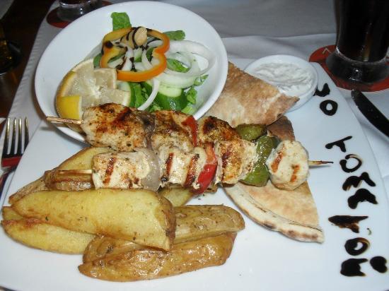 Tower House : Greek chicken kebab