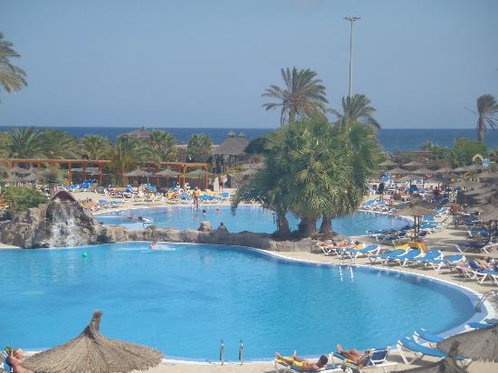 Hotel Elba Carlota : Vue sur l'espace piscine