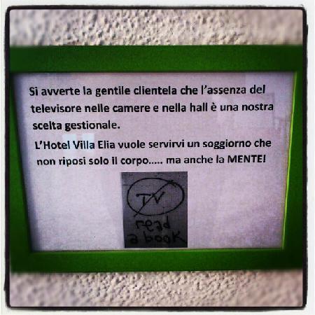 Hotel Villa Elia: No TV