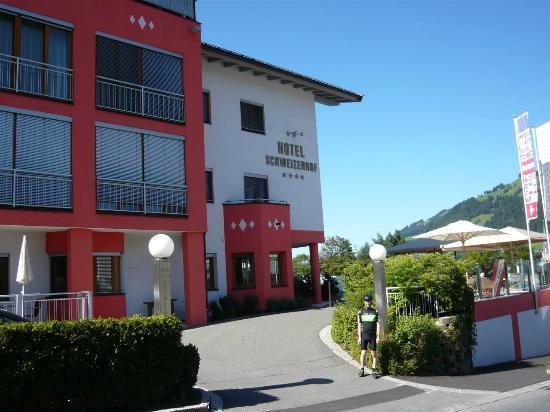 Hotel Schweizerhof Kitzbuehel, Sport- & Beautyhotel: Me stood outside the hotel entrance