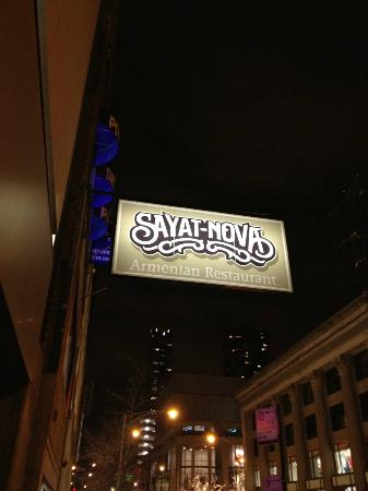 Sayat Nova's sign