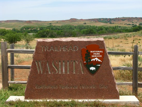 Washita Battlefield National Historic Site : Trailhead zum Battlefield