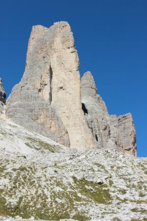 Tre Cime di Lavaredo: one of the bold face lime stones of Tre Cime