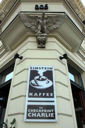 Einstein Kaffee: one branch in check point charlie is always full with tourist
