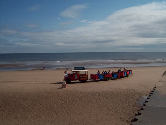Mablethorpe, UK: sand train