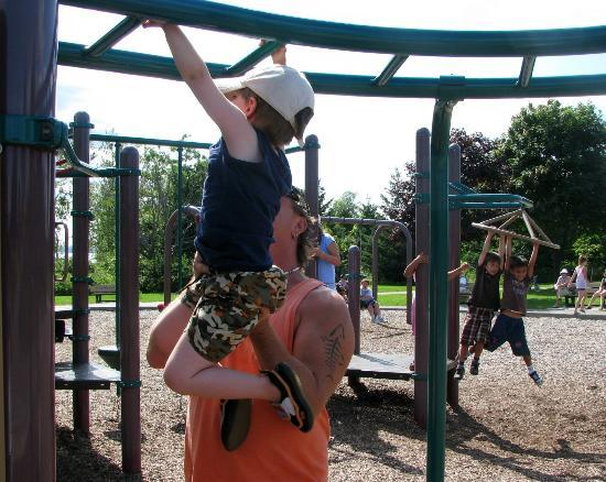 Fun in the Rotary Park playground