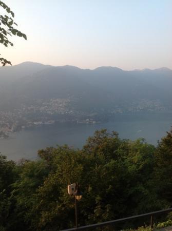 Ristorante Hotel Falchetto: view from Falchetto in the evening