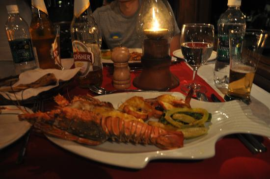 Coconut Lagoon: Dinner at the seafood restaurant