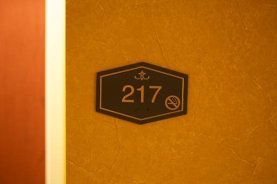 Hampton Inn La Porte: room clearly marked non smoking