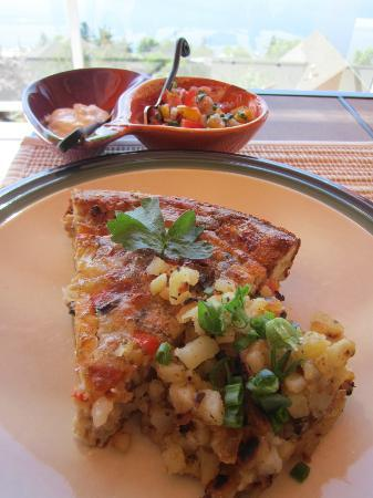 Okanagan Oasis B&B: Sausage pie with fresh salsa.
