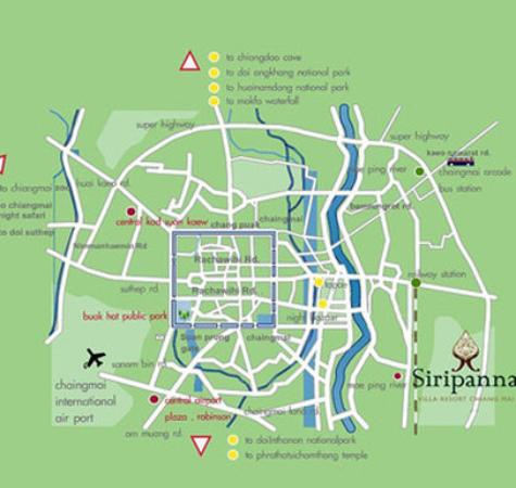 Siripanna Villa Resort & Spa: Map